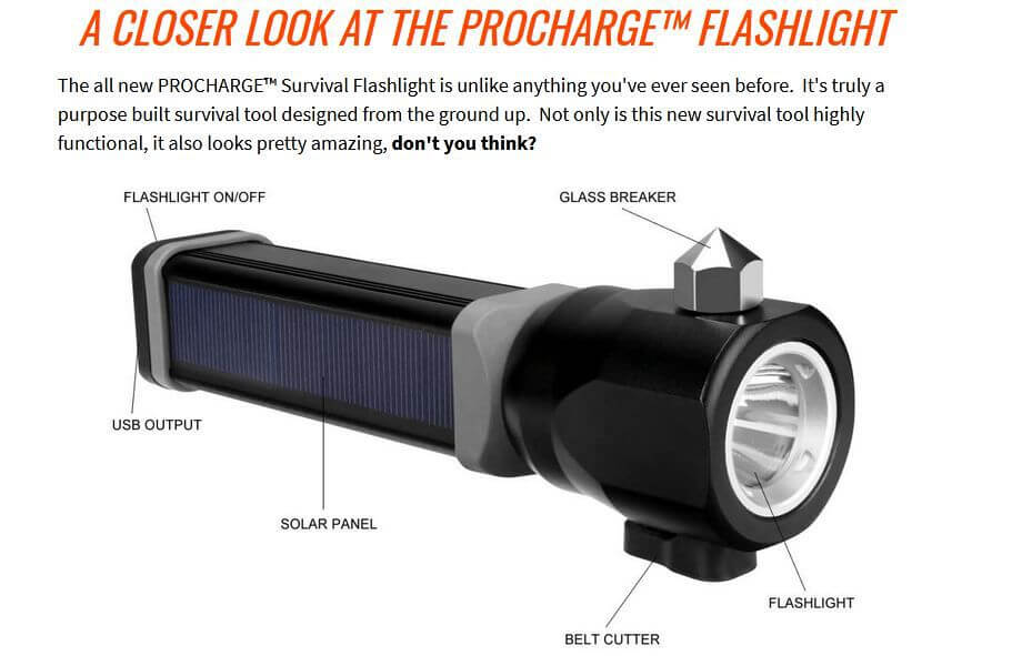 Procharge Survival Flashlight Review
