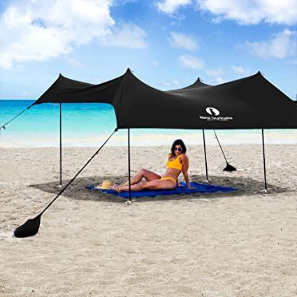 Red Suricata Family Beach Sunshade-Sun Shade Canopy